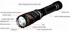 Светодиодный фонарик с камерой цифрового видеорегистратора для сотрудников полиции, ж/д, Суд