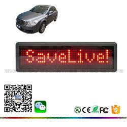 Nylon het Riemen Opgezette LEIDENE van de Zonnekleppen van de Auto MiniTeken van de Auto met het Navulbare Scherm van de Vertoning van de Sigaar van de Batterij en van de Auto Lichtere