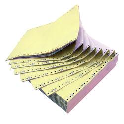 2/3 Falte-kontinuierliches kohlenstofffreies Druckpapier-Computer-Papier