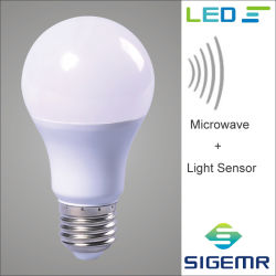 SMD LED intelligent 7W 9W 12W micro-ondes de détection radar de l'ampoule du capteur de mouvement