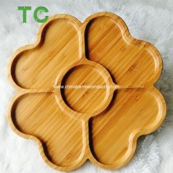 En forme de fleur de bambou les écrousde la plaque de collation de la plaque de la plaque de Cookies