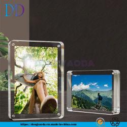 Custom прозрачным акриловым рамка для фотографий, пользовательские Plexiglass сильных магнитных карт в таблице