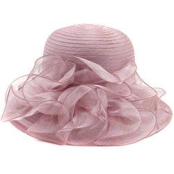 Lady Derby Kleid Kirche Cloche Hut Schleife Eimer Hochzeit Bowler Hüte