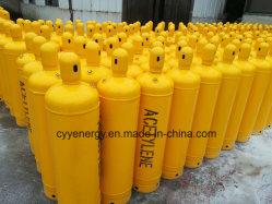 40 لتر أكتيلين نيتروجين أكسجين أكسجين أكسجين أكسجين من الفولاذ المقاوم للصدأ أسطوانة الغاز