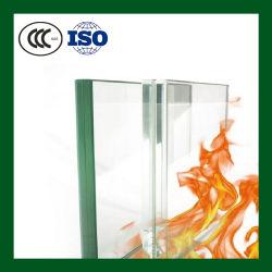Fabricante Clasificado Resistente Monolítico Puertas de Construcción Panel sin Marco Borosilicato Ventana de Construcción Vidrio Ignífugo