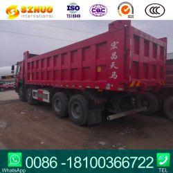 使用されたダンプトラック12の車輪HOWO Sinotruk秒針のダンプカートラック8X4最もよい状態の競争価格の熱い販売50トンの頑丈なトラック7.6m 8.2mの貨物ユーロ5の