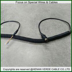 RoHS LSZH Stromleitung Netzkabel-Spirale-aufgerolltes Kabel mit Verbinder
