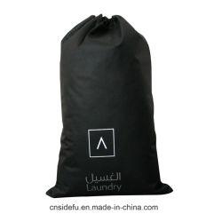 Super Cool Hotel 100GSM шнурком черный Non-Woven пакет для использованного белья