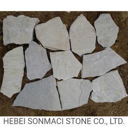 Белый кварцевый гибкие каменной кладки стены из шпона точильного камня