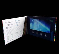 7inch LCD Bildschirm-Videokarten für Geschäfts-Geschenke