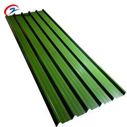 Bas prix de gros d'usine de zinc toit métallique de rouleau en acier ondulé PPGL PPGI/tôle de toit