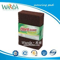 Tampons à récurer de nylon Red-Brown abrasif Tampon de nettoyage