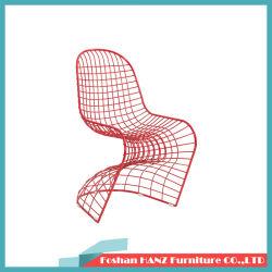 Metal vermelho Panton 1007 Cadeira de jantar