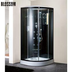 Vidro preto cabine de duche de massagem completa Quarto Superior com Chuveiro