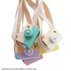 La décoration d'ameublement pendaison caméra en bois Jouets Jouets pour enfants anniversaire Les Cadeaux