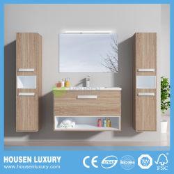 Casa de banho de luxo Sanitária com espelho de LED e 2 armários laterais HS-E1104-800