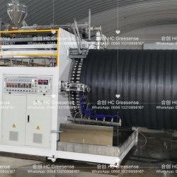 400-1600mm中45押出機Cladingが付いているプラスチックHDPE/PP/PVC/PPRのガラス繊維の空の壁の巻上げの管機械