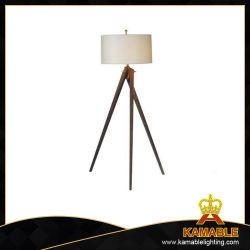 Künstlerisches hölzernes mit Gewebe-Farbton-Fußboden-Lampen (F712)
