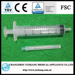 Ce&ISO Approvedの3部分Plastic Sterile Disposable Syringe