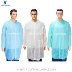 保護使い捨て可能なポリプロピレンSMS PPの白い医学のNonwoven実験室のコート