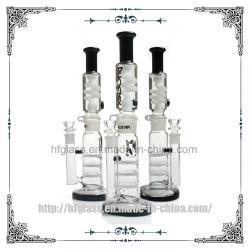 14 van het Glas van de Waterpijp van de Tabak van de Drievoudige van de Honingraat van Perc Freezable van de Rol duim Producten die van de Glycerine Vloeibare de Waterpijp van het Glas roken