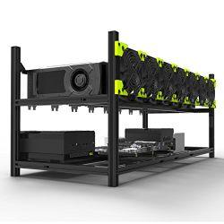8 L'exploitation minière GPU Rig Rig de cas d'exploitation minière empilables en aluminium