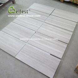 Marmo di legno bianco del grano per il disegno della parete e del pavimento della stanza da bagno