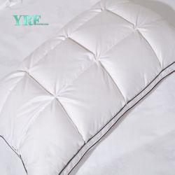 Venta caliente de la salud tejido de algodón con almohadas de plumas de pato
