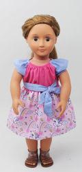 Vestido Rosa Bonecos Acessórios para bonecas Americano e bonecas DA UE