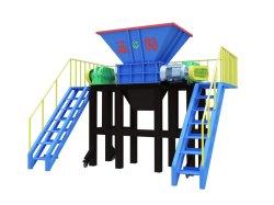 Doppelter Welle-Reißwolf für Tierkarkasse/medizinische Abfall-/Küche-überschüssige Haushaltsgeräte/Möbel, Garten-überschüssiger/Hausabfall/hölzerne Plastikladeplatte/Gummireifen