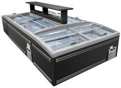 O vidro corrediço de porta-bagagens Visor arca congeladora frigorífico para Supermercado Restaurante