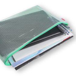 Personalizada Una cuadrícula4 Bolsa de PVC impermeable de PVC de archivo de almacenamiento de la Oficina de la bolsa de cremallera