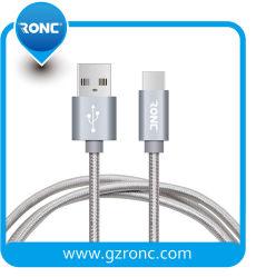 1m 2.4A Nylon Gevlechte Kabel USB2.0 type-C voor Mobiele Telefoon