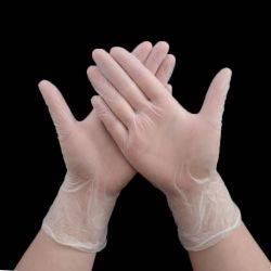 Одноразовые перчатки оптовой ПВХ Food Grade защиты домашних Micro эластичные