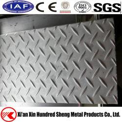A240 304 316L de Geruite Plaat /Sheet van het Roestvrij staal van de Diamant ASTM
