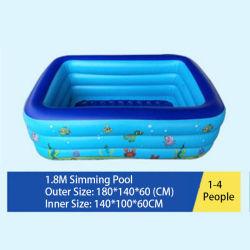 بركة سباحة قابلة للنفخ للأطفال مع قاع الفقّاعة