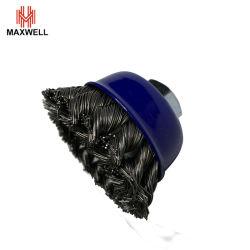 Rueda de alambre de acero de la Copa Rotativa Cepillo Cepillo de alambre