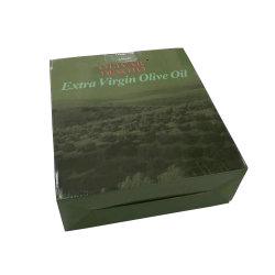 Глянцевый дизайн оливкового масла в упаковке с делителями