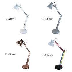GU10 Lampe de bureau moderne du bras oscillant pliable de Bronze pour la lecture de lampe de table réglable