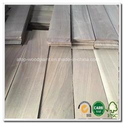 4mm folheado de piso em madeira de nogueira preta lamela lateral de piso de madeira de Engenharia