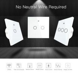 WiFiの中立ワイヤーのないスマートな壁スイッチ