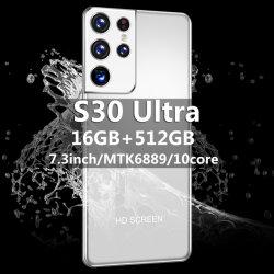 Новый стиль S30 Ультра мобильного телефона номер телефона Andriod 7,3-дюймовый большой экран смартфона