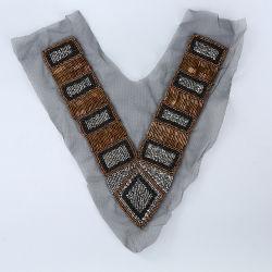 화려한 자수 Tulle Collar Lace Applique Beaded 넥라인 Collar for 옷
