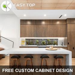 Legno compensato PVC Wrapped Vinyl Wood Grain cucina modulare Armadio moderno armadio cucina