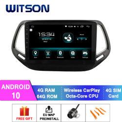 ジープのコンパス車のDVDプレイヤーのタッチ画面のためのWitsonの接触倍DIN車のDVDプレイヤーGPS