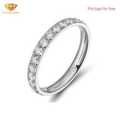Bisutería de moda ultra liviano CNC anillo de bodas de diamante del anillo de titanio para la mujer TR4301