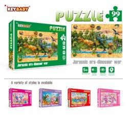 D'impression personnalisé papier carton Puzzle jeu de puzzle livre pour enfants