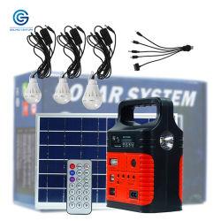 Sistemi energetici solari portatili di CC della batteria di ione di litio 10W 6V tutto in un sistema di generatore di energia solare per uso in domestico ed in esterno