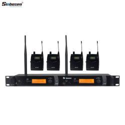 Microfone sem Fios Profissional Sinbosen sr2050 Sistema de som no monitor de orelha