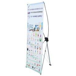 Портативный штатив металлический X подставка для дисплея Корея X баннер стенд 60*160 см 80*180 см черный волокна X-подставка для рекламных баннеров торговых выставок
